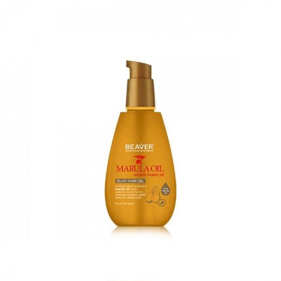 Beaver silky hair oil 100ml marula oil